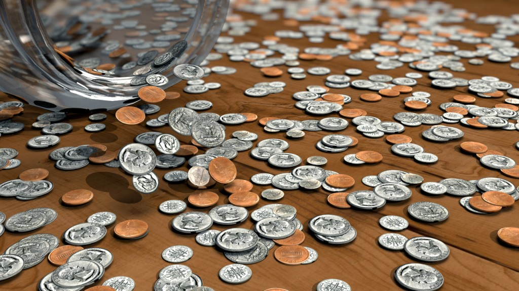 Coin Scatter | ~1week exercise in Houdini | Fall 2012
